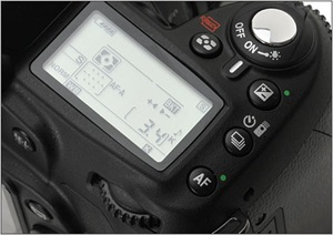 Nikon D90 display
